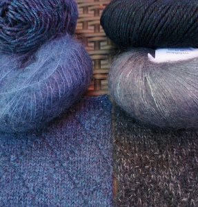 both yarns and swatches