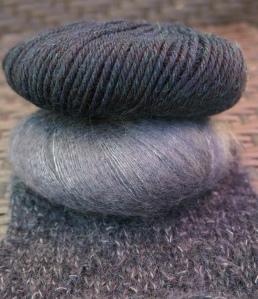 Knit Picks yarn and swatch